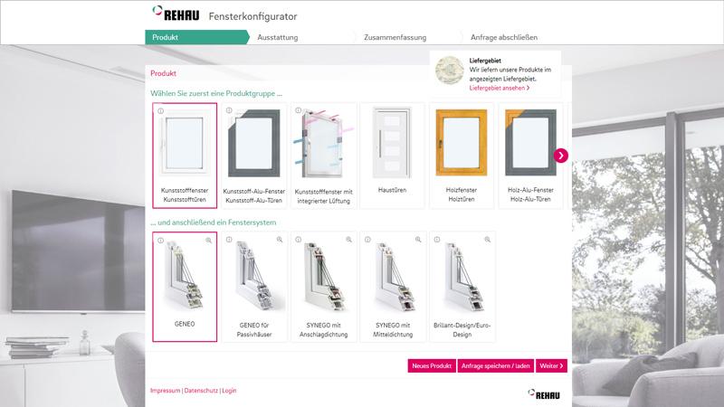 Rehau fensterkonfigurator tischlerei sommer nordenham for Kunststofffenster konfigurator